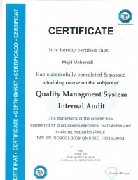 گواهینامه مدیریت کیفیت